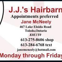 J J's Hair Barn logo