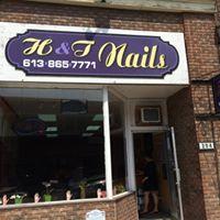 H & T Nails logo