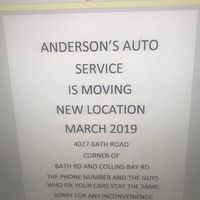 Anderson's Auto Service logo
