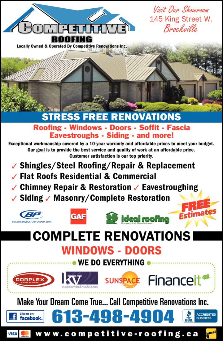 Competitive Roofing & Renovations logo