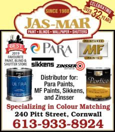 Jas-Mar Paint Blinds Wallpaper Shutters logo