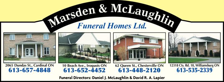 Marsden & McLaughlin Funeral Homes Ltd logo