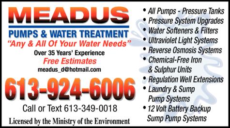 Meadus Pumps & Water Treatment logo