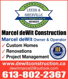Marcel deWit Construction logo