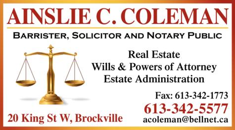 Coleman Ainslie C logo