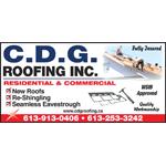 CDG Roofing Inc logo