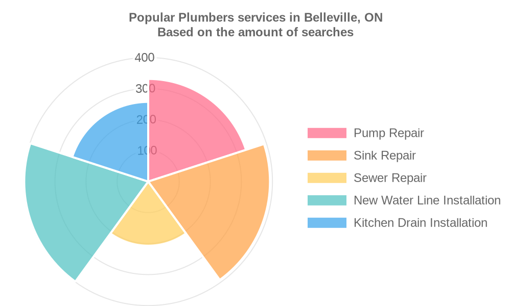 Popular services provided by plumbers in Belleville, ON