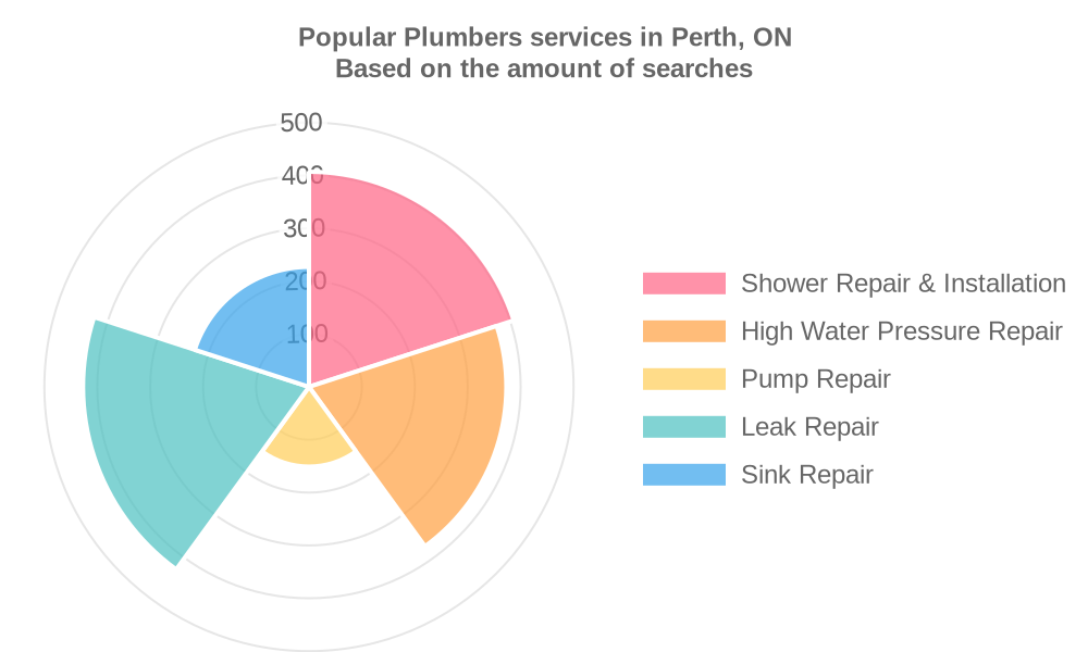 Popular services provided by plumbers in Perth, ON