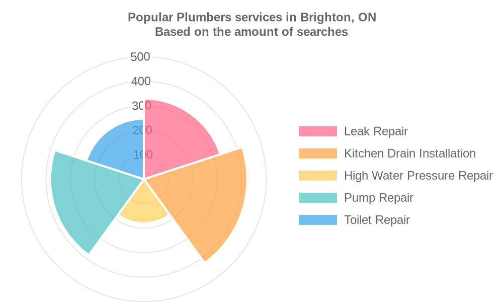 Popular services provided by plumbers in Brighton, ON