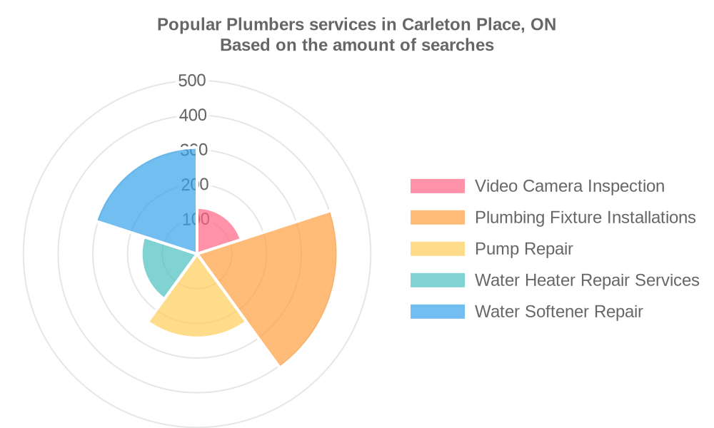 Popular services provided by plumbers in Carleton Place, ON