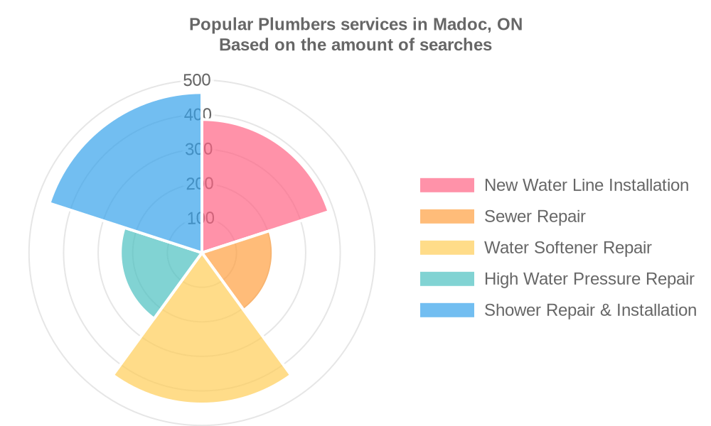 Popular services provided by plumbers in Madoc, ON
