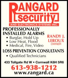 Print Ad of Rangard Security