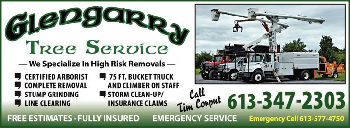 Print Ad of Glengarry Tree Service