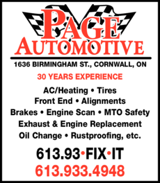 Print Ad of Page Automotive