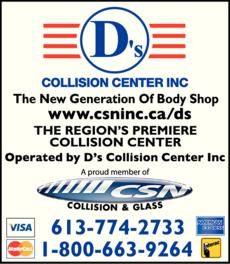 Print Ad of D'S Collision Center Inc