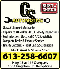 Print Ad of G & S Automotive Ltd