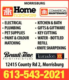 Print Ad of Home Hardware Morrisburg
