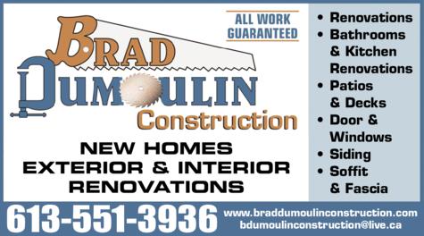 Print Ad of Dumoulin Brad Construction