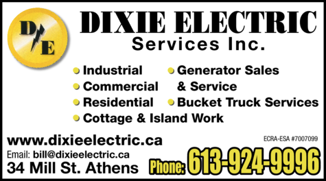Print Ad of Dixie Electric Services Inc