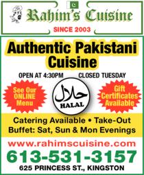 Print Ad of Rahim's Cuisine