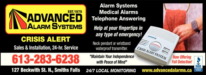 Print Ad of Advanced Alarm Systems
