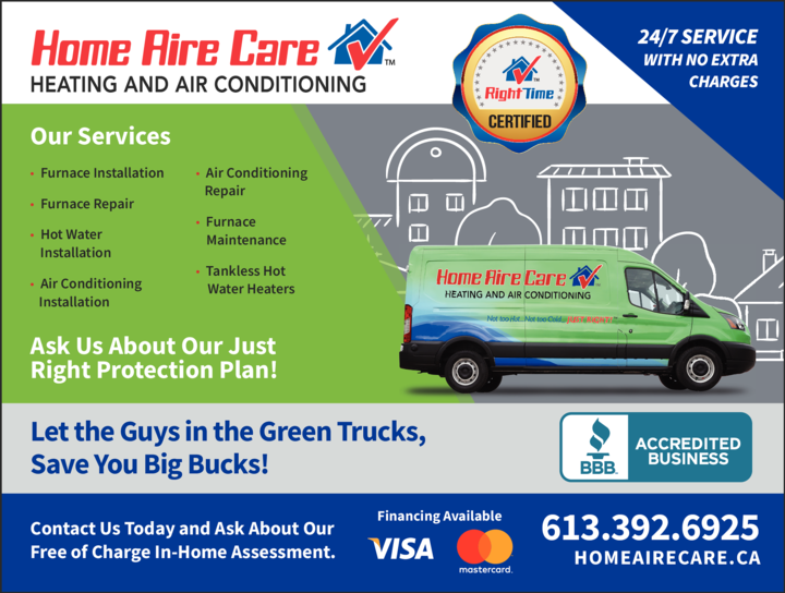Yellow Pages Ad of Home Aire Care Heating & Cooling