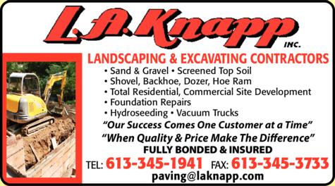 Print Ad of La Knapp Inc