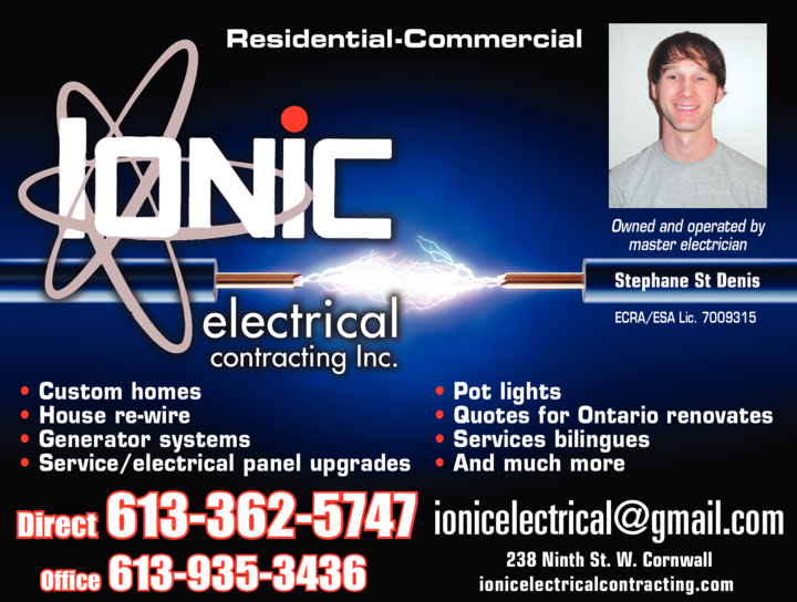 Print Ad of Ionic Electrical Contracting Inc
