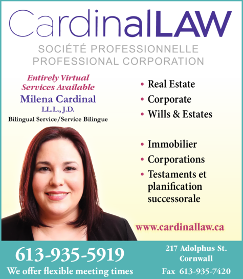 Print Ad of Cardinal Law Professional Corp
