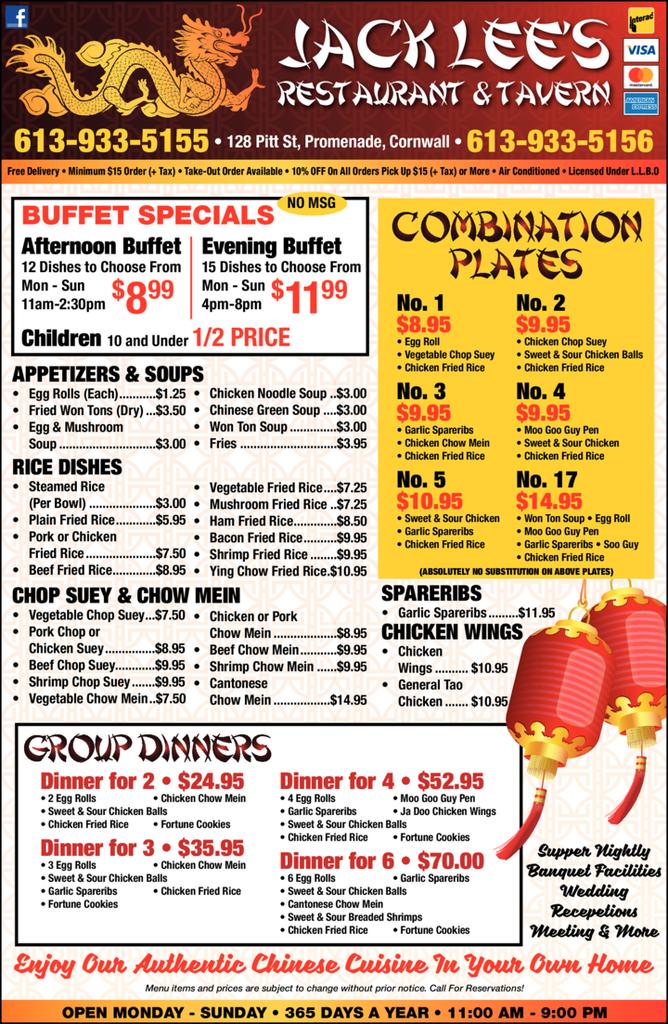 Print Ad of Jack Lee's Restaurant & Tavern