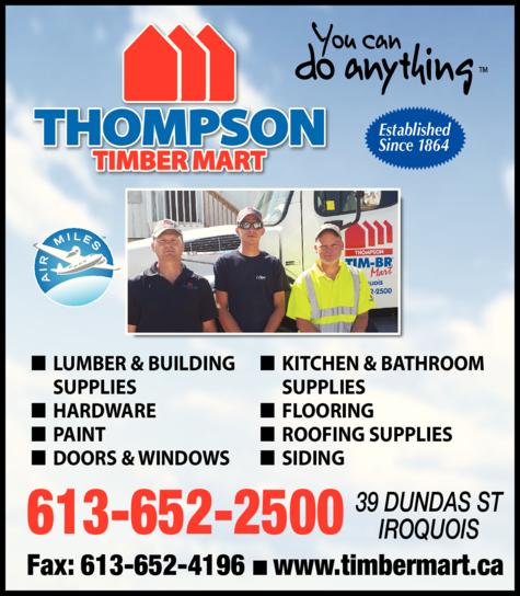 Print Ad of Thompson Timber Mart