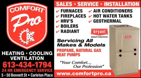 Print Ad of Comfort Pro