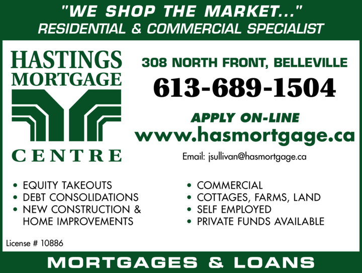 Print Ad of Hastings Mortgage Centre