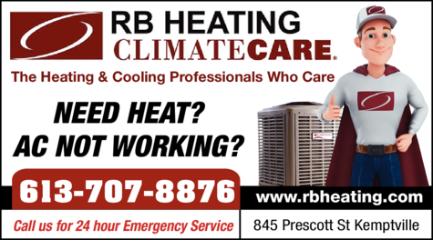 Print Ad of Rb Heating Climate Care