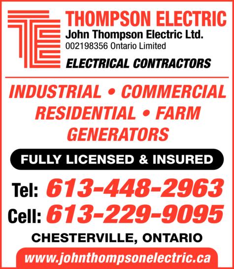 Print Ad of Thompson Electric